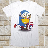 Captain Minion American Funny Shirt for t shirt Mens and t shirt Girl