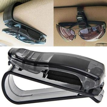 DCCKL72 hot Car Sun Visor Glasses Sunglasses Ticket Receipt Card Clip Storage Holder clamp drop ship sale