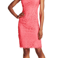 Floral Lace Sheath Dress - Adrianna Papell