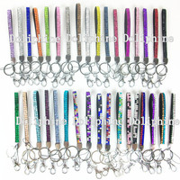 34 Colors Rhinestone Bling 8 Wristlet LANYARDs with by Doliphine