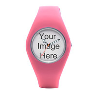 Pink Silicone Custom Watches