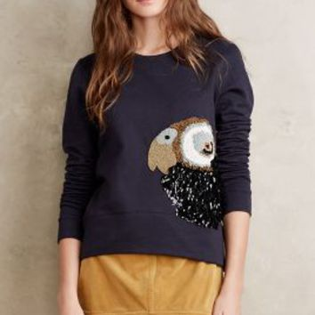 Let Me Be Oiseau Pullover in Blue Size: