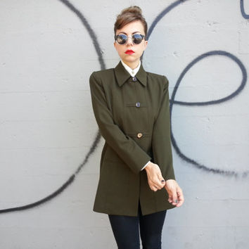 80s Bebe Military Inspired Structural Jacket