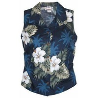 hilo hawaiian sleeveless blouse