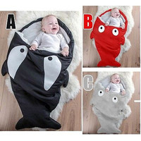 Winter Shark Baby Kids Boys Girl Animal Minions Swaddle Blanket Wraps Sleeping Bag For Pram Bed