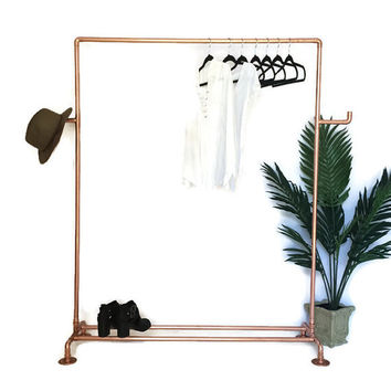 Copper Pipe Copper Clothing Rack Made To Order