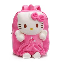 Children's Gift Kindergarten Girls Boys Backpack Cartoon Plush Baby School bags Kids Schoolbag With Cute Dolls Toy For 2-5 Years