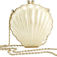 RICO PEARL SHELL RESIN BAG WITH METAL FRAME
