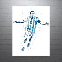 Lionel Messi Argentina World Cup Soccer Futbol Poster