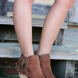 NOT RATED Flippin Fringe Tan Ankle Bootie