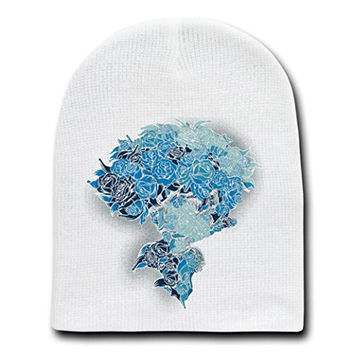 'Real Blues' Anime Cartoon Parody - White Adult Beanie Skull Cap Hat
