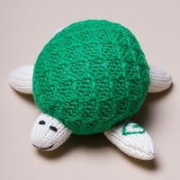 Organic Turtle Rattle Baby Toy