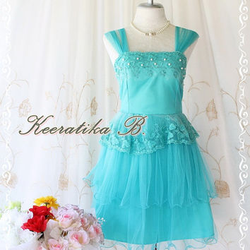 Fantastic Cocktails Night - Goddess Petite Turquoise Cocktail Dress Tutu Glamorous Prom Party Bridesmaid Dinner Wedding Dress