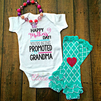 mothers day pregnancy announcement, mothers day gift for grandma, promoted to grandma, baby girl mothers day outfit,mothers day gift