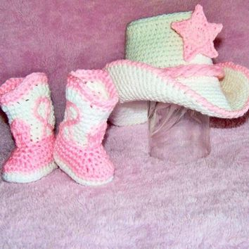 Boots - Cowboy Hat - Girl Cowboy Outfit - Baby Buckaroo Outfit - Cowboy Baby Outfit Baby Girl Cowboy