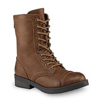 Joe Boxer Women's Alabama Brown Mid-Calf Combat Boot - Clothing, Shoes & Jewelry - Shoes - Women's Shoes - Women's Boots