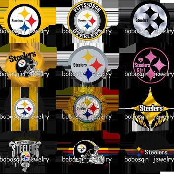 football Pittsburgh Steelers glass snap button          photo print  Phone Holder   GS9403