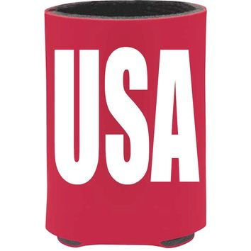 'USA' 4th Of July Koozie Red