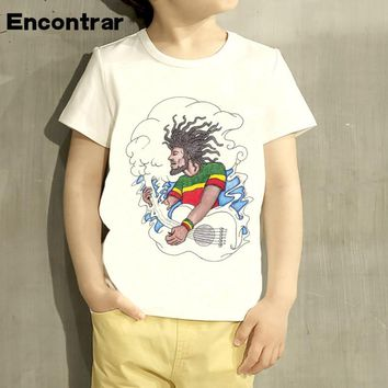 Kids singer Bob Marley Reggae Rastafari  Design Baby Boys/Girl TShirt Kids Funny Short Sleeve Tops Children Cute T-Shirt,HKP4118