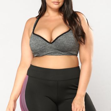Champ Active Sports Bra - Marled Charcoal