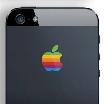 iPhone 5 Rainbow Logo Decal