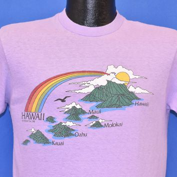80s Hawaiian Islands Rainbow t-shirt Medium