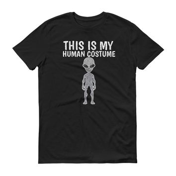 This is My Human Costume - Distressed - Halloween - Short-Sleeve T-Shirt
