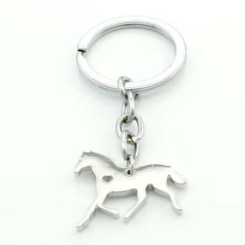 Stainless Steel Horse Key Chain