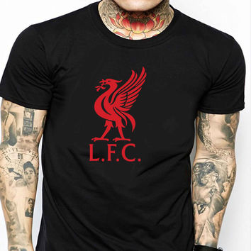 You'll Never Walk Alone Liverpool R FD Mens T-shirt Black and White