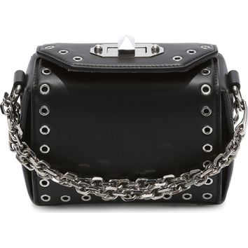 Alexander McQueen Mini Box Grommet Leather Bag | Nordstrom
