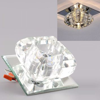 Modern Crystal LED Pendant Bedroom Chandelier