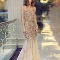Long backless dress 78654 - Prom Dresses