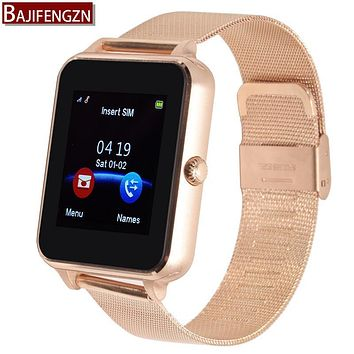 smart watch for android phone support Pedometer Twitter bluetooth reloj inteligente men women sport Watches Clock GT08  Steel