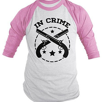 Shirts By Sarah Unisex Best Friends Partners In Crime Shirts - Crime 3/4 Sleeve Raglan