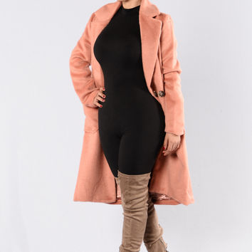 Keep Me Warm Coat - Pink