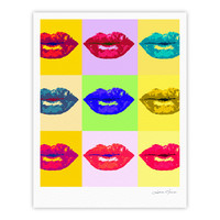 "Oriana Cordero ""Pop Kiss"" Rainbow Lips Fine Art Gallery Print"