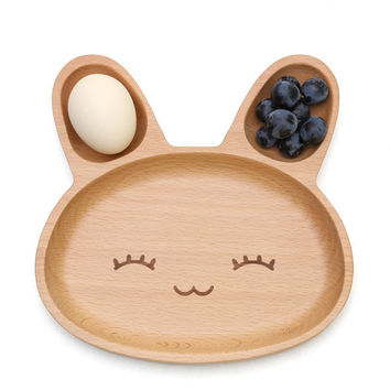 20*20*6.2cm Cute Rabbit Food Dish