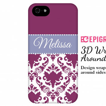 Personalized iPhone 6 case, iPhone 6 plus case, custom iPhone 5c case, iPhone 5s case, iPhone 4s case, galaxy s5 case, damask iPhone 6 case