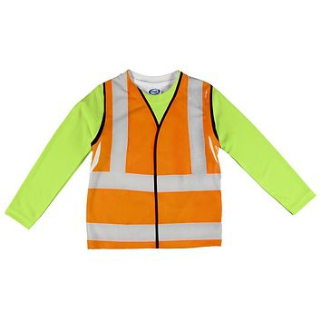 Halloween Road Worker Reflective Vest Costume All Over Infant Long Sleeve T Shirt