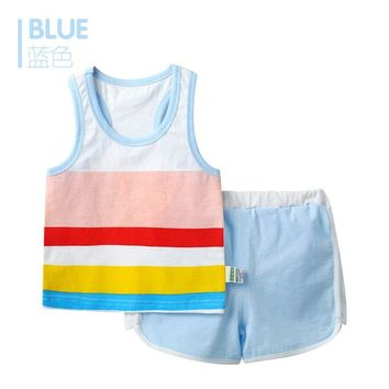 Cotton Short Sleeve Baby Clothing Set Summer Cheap Newborn Toddler Baby Boys Clothes Set