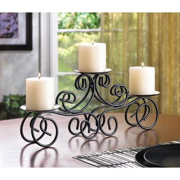 Candle Holder-Tuscany Wrought Iron