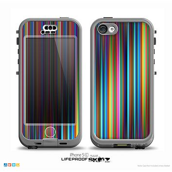 The Vivid Multicolored Stripes Skin for the iPhone 5c nüüd LifeProof Case