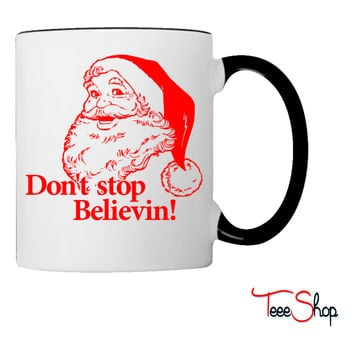 Santa Christmas Believe Coffee & Tea Mug