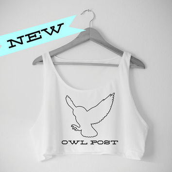 Hedwig Owl Post Crop Top - American Apparel Crop Top - Harry Potter Inspired
