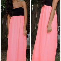 Bright Side Maxi in Neon Coral