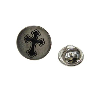 Gothic Cross Pendant Lapel Pin