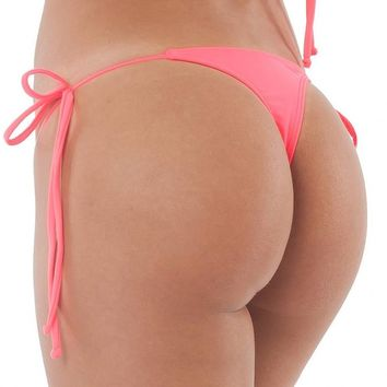 COQUETA Brazilian Sexy Bikini Bottom Separates Swimwear TEENY Thong CORAL