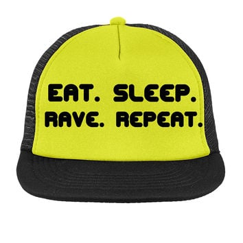 Eat. Sleep. Rave. Repeat. Hat