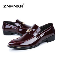 15 Fashion Flats Men Formal Shoes Casual PU Leather Men Flats Oxfords Shoes For Men Casual Man Moccasin Sapato Masculino