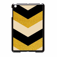 Chevron Classy Black And Gold Printed iPad Mini 2 Case